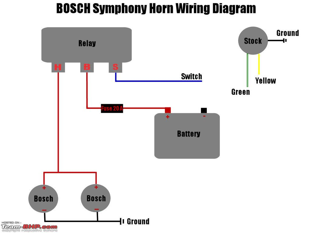 Zt 8968 Horn Wiring Diagram With A Relay Free Diagram