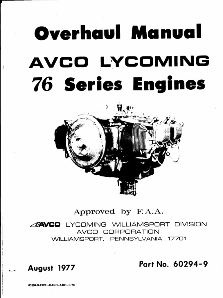 Brilliant Lycoming O320 H2Ad 76 Overhaul Manual Cylinder Engine Piston Wiring Cloud Overrenstrafr09Org