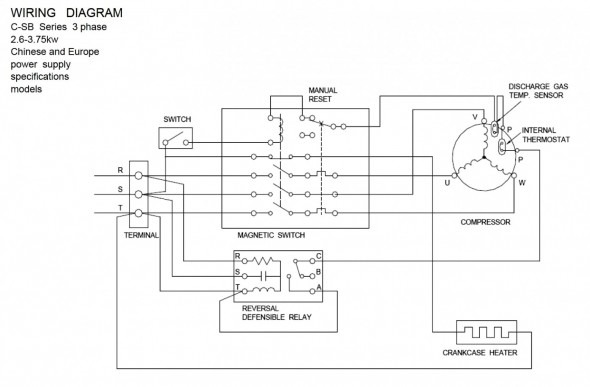 Wiring Diagram For Single Phase Copeland Compressor