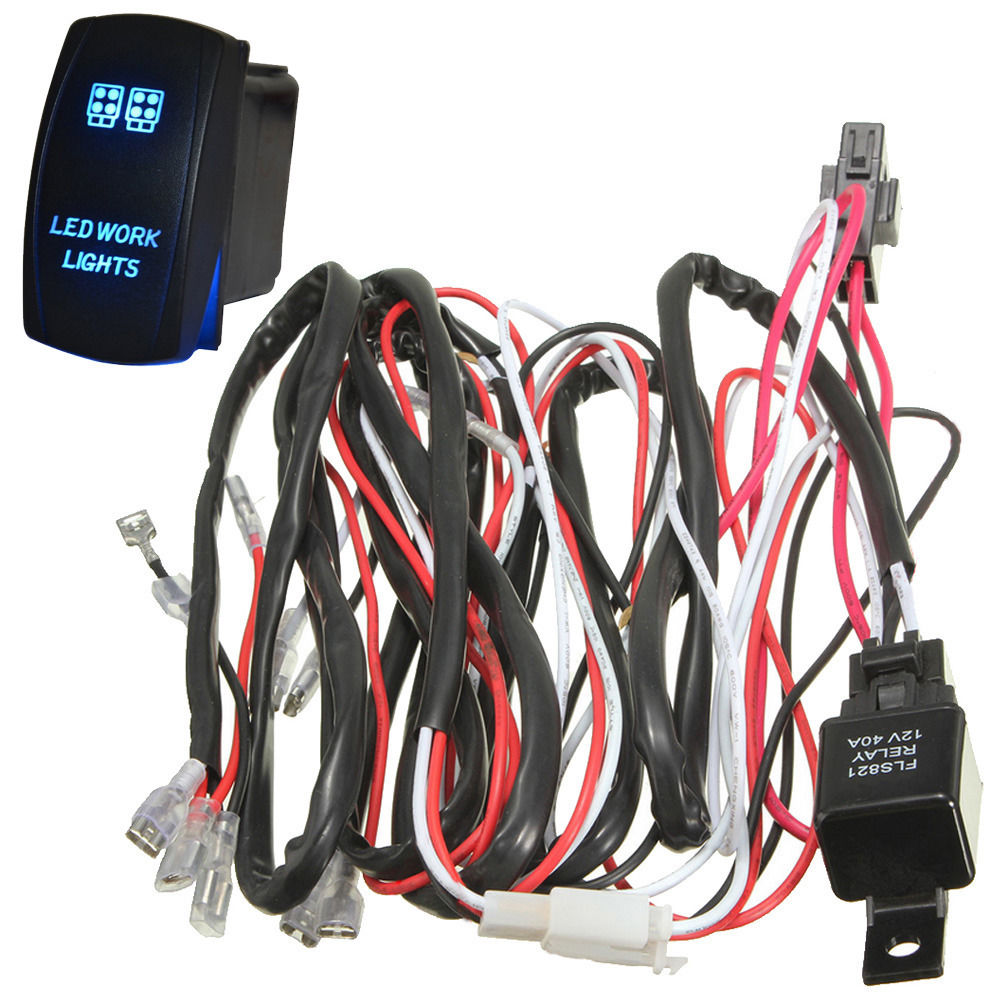 Wondrous Ee Support 40A 300W Wiring Harness Kit Led Light Bar Laser Rocker Wiring Cloud Staixaidewilluminateatxorg