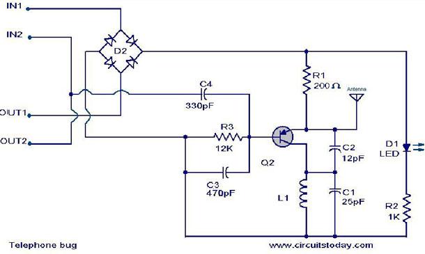 Tremendous Fm Telephone Bug Electronic Circuits And Diagrams Electronic Wiring Cloud Xortanetembamohammedshrineorg
