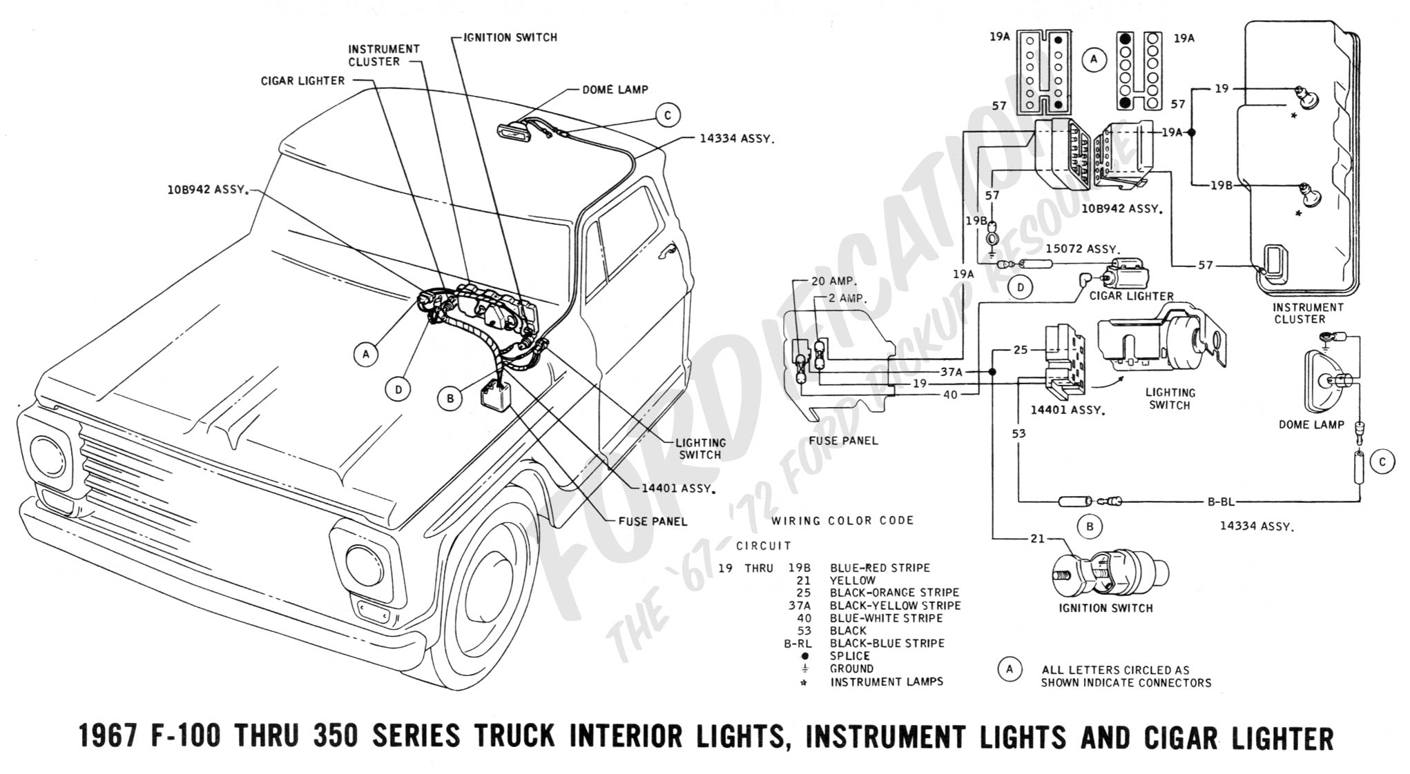 1967 thunderbird turn signal diagram wiring schematic cz 5033  1967 ford f100 350 complete exterior lights and turn  1967 ford f100 350 complete exterior