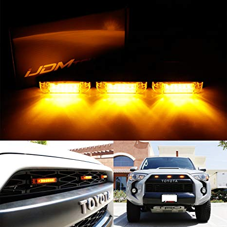 Miraculous Amazon Com Ijdmtoy 3Pc Amber Led Center Grille Marker Lights For Wiring Cloud Licukshollocom