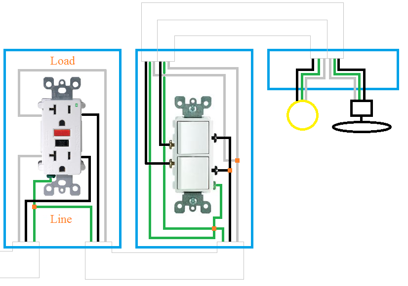 GM_1352] Double Rocker Wall Switch Wiring Diagrams Schematic Wiring