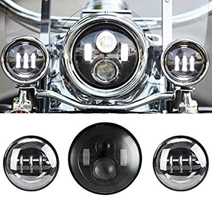 Awe Inspiring Amazon Com Sunpie 7 Inch Black Motorcycle Led Headlight 2Pcs 4 1 Wiring Cloud Ymoonsalvmohammedshrineorg