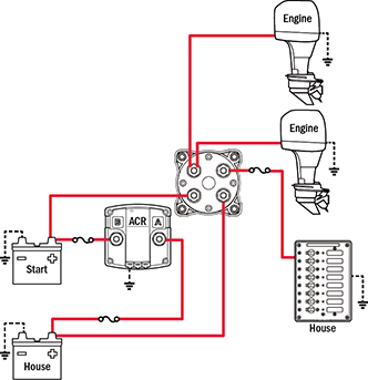 Awesome Battery Management Wiring Schematics For Typical Applications Blue Wiring Cloud Hisonepsysticxongrecoveryedborg