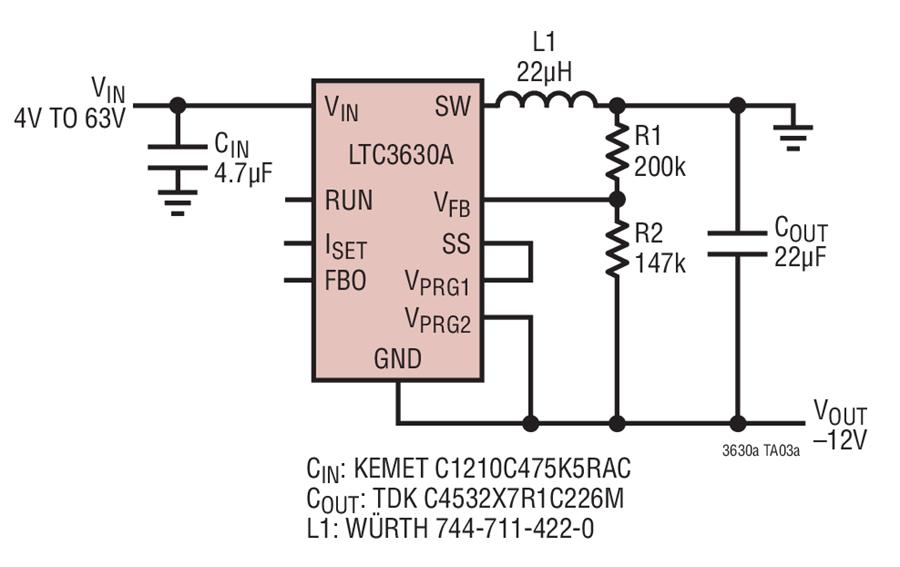 Super Ltc3630A 4V To 63V Input To 12V Output Positive To Negative Wiring Cloud Hemtshollocom