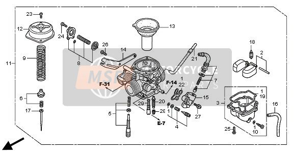 Nz 4033  Honda Motorcycle Carburetor Diagram Schematic Wiring