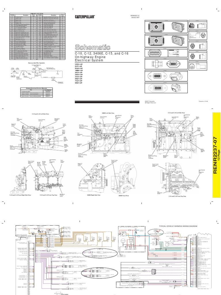 Super Diagrama Electrico Caterpillar 3406E C10 C12 C15 C16 2 Wiring Cloud Overrenstrafr09Org