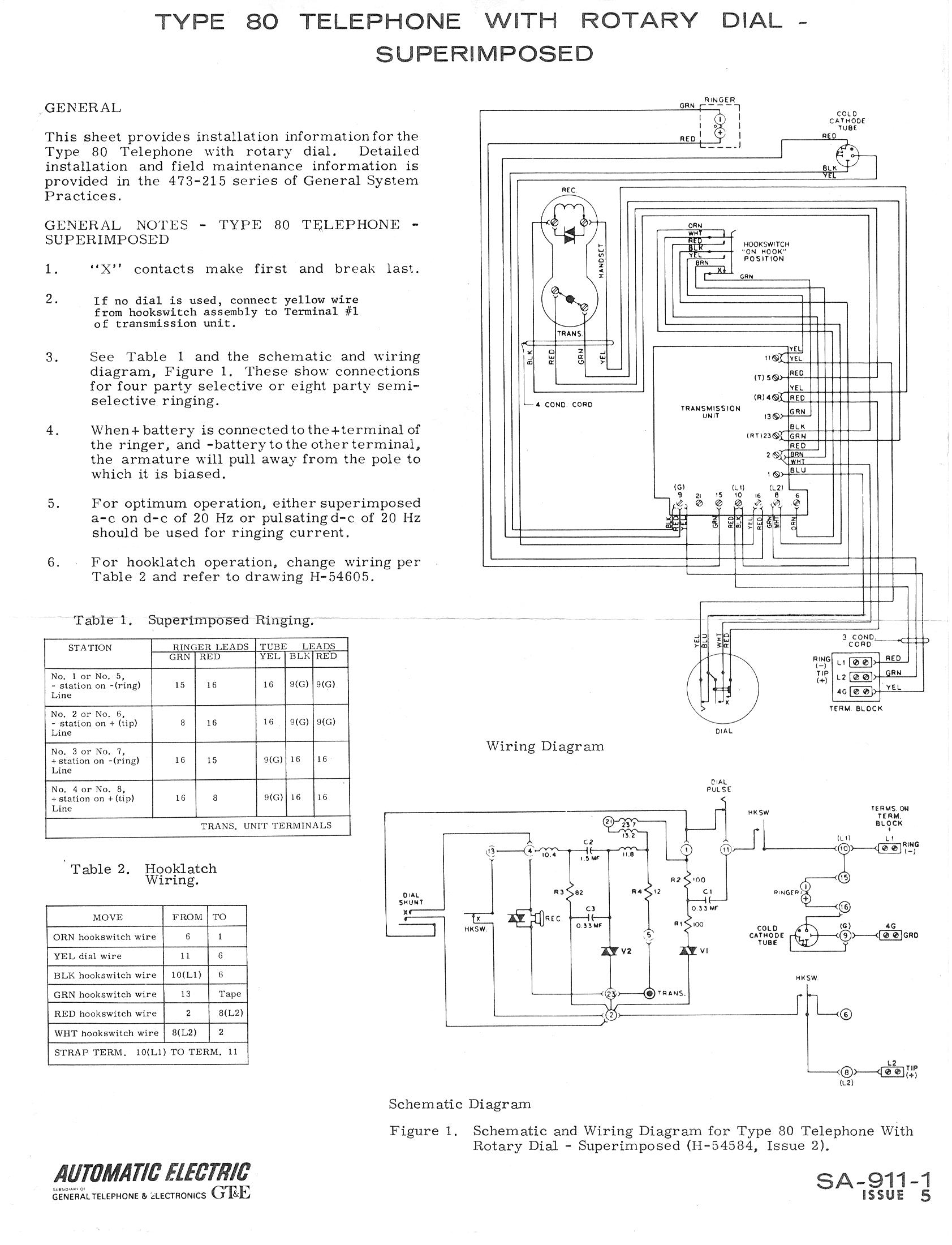 Western Electric Candlestick Wiring Diagram