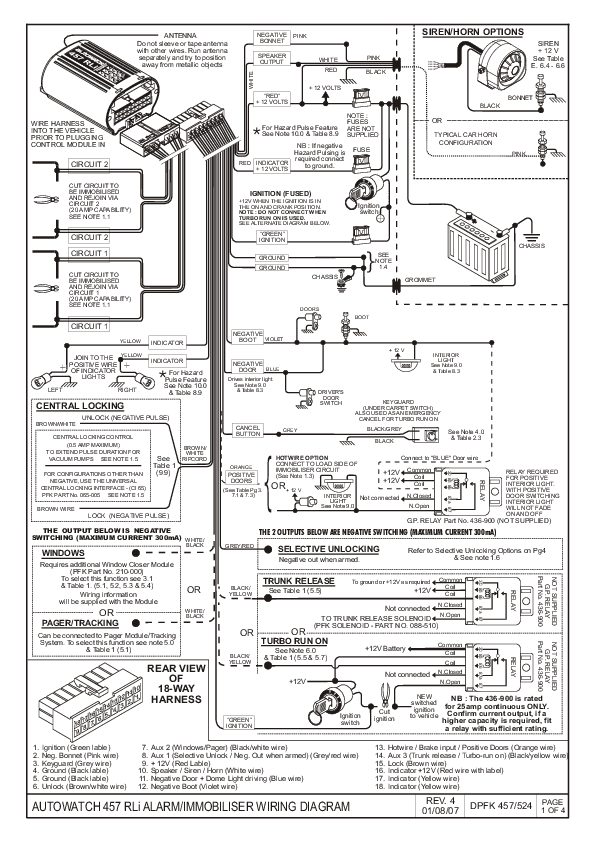 Auto watch 446rli wiring diagram