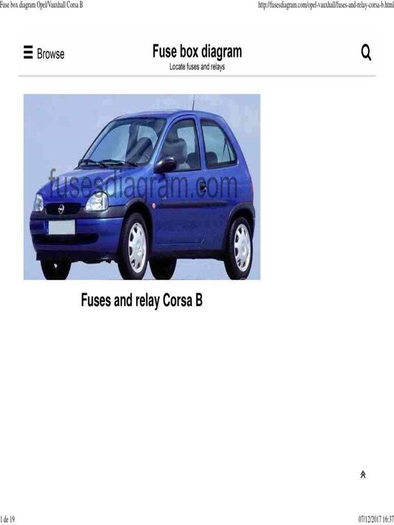 Tb 6361 Opel Corsa B Fuse Box Diagram Download Diagram