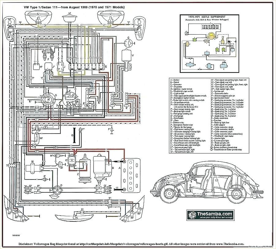Bl 8273 1971 Super Beetle Fuse Box Diagram Schematic Wiring