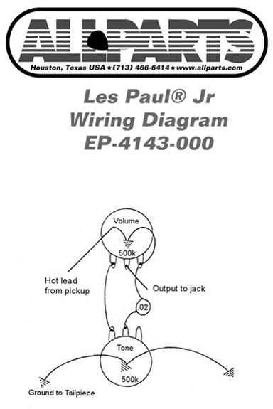 Wondrous Allparts Electric Guitar Wiring Kit For Gibson Les Paul Jr Raru Wiring Cloud Xortanetembamohammedshrineorg