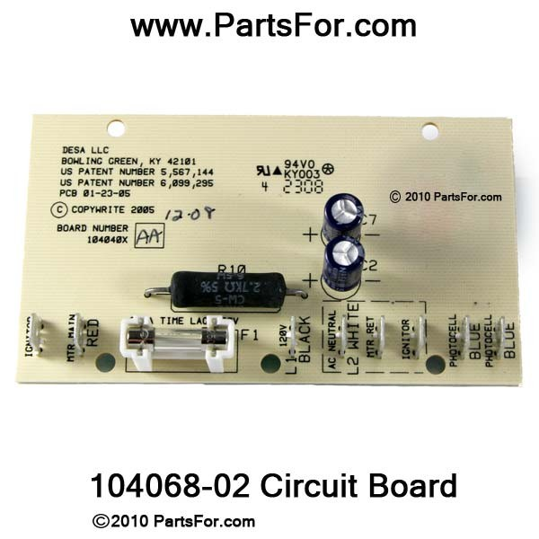 Enjoyable 104068 02 Circuit Board Parts For Desa Heaters Replaces 104040X Wiring Cloud Ymoonsalvmohammedshrineorg