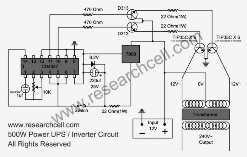 Ez 3602  Power Inverter Circuits Free Diagram