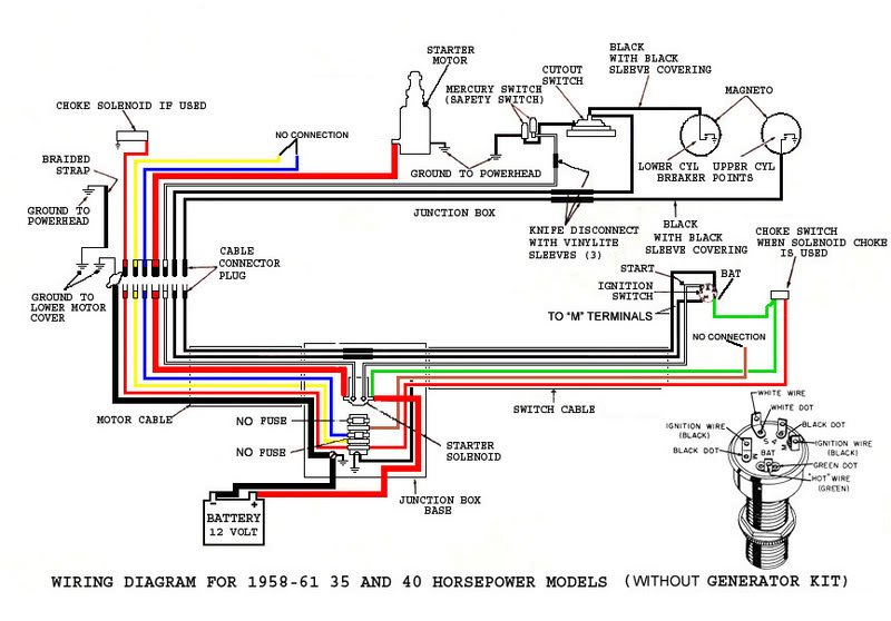 Wiring Diagram For Evinrude 35