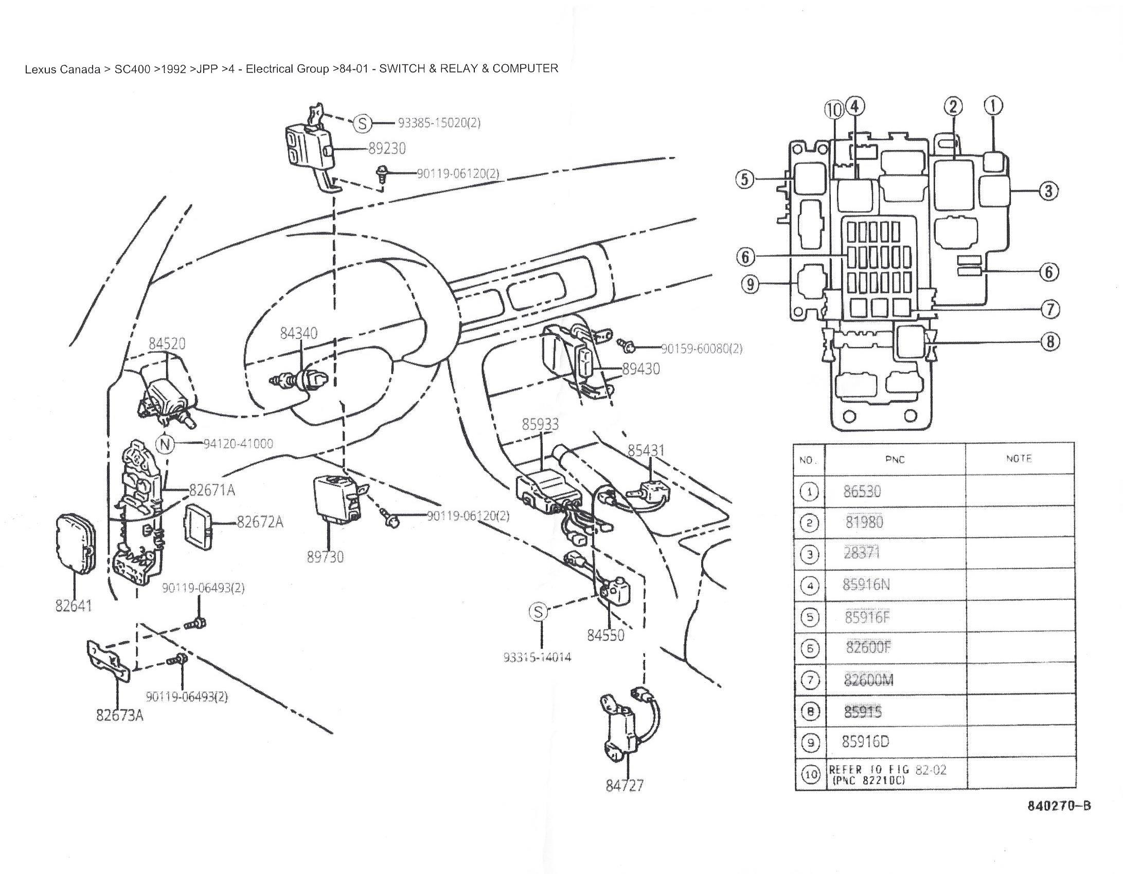 Fz 0363 Toyota Soarer Fuse Box Location Schematic Wiring