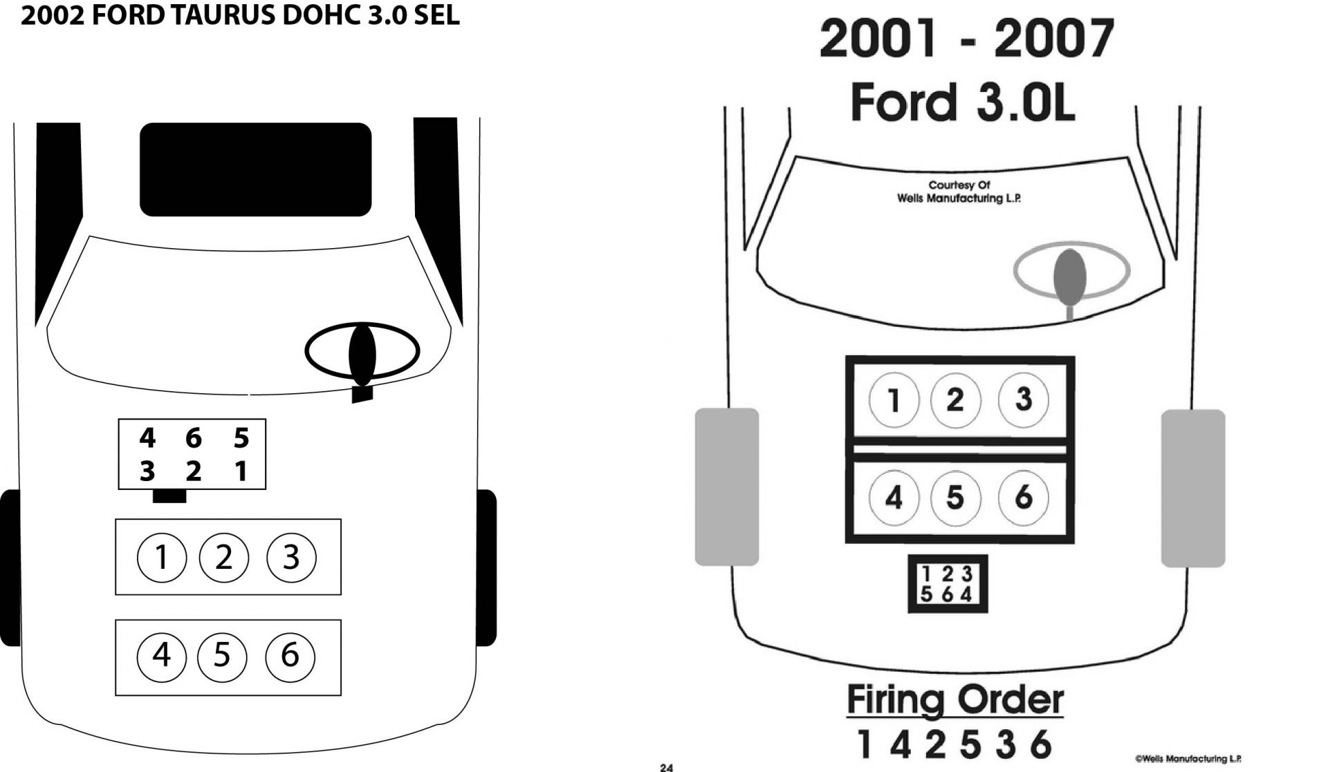 2002 Ford Taurus Plug Wire Diagram