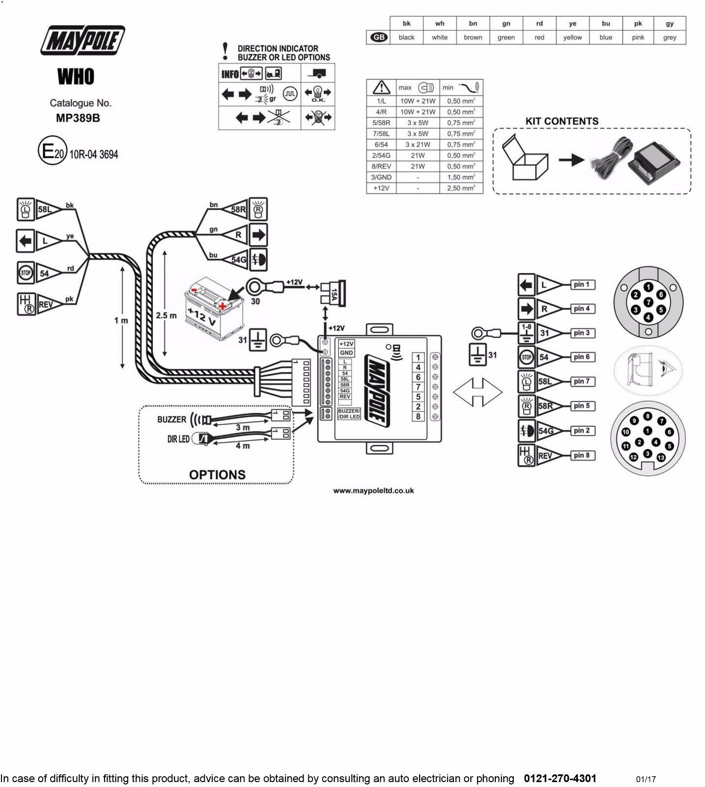 Wiring Diagram For Towbar With Bypass Relay