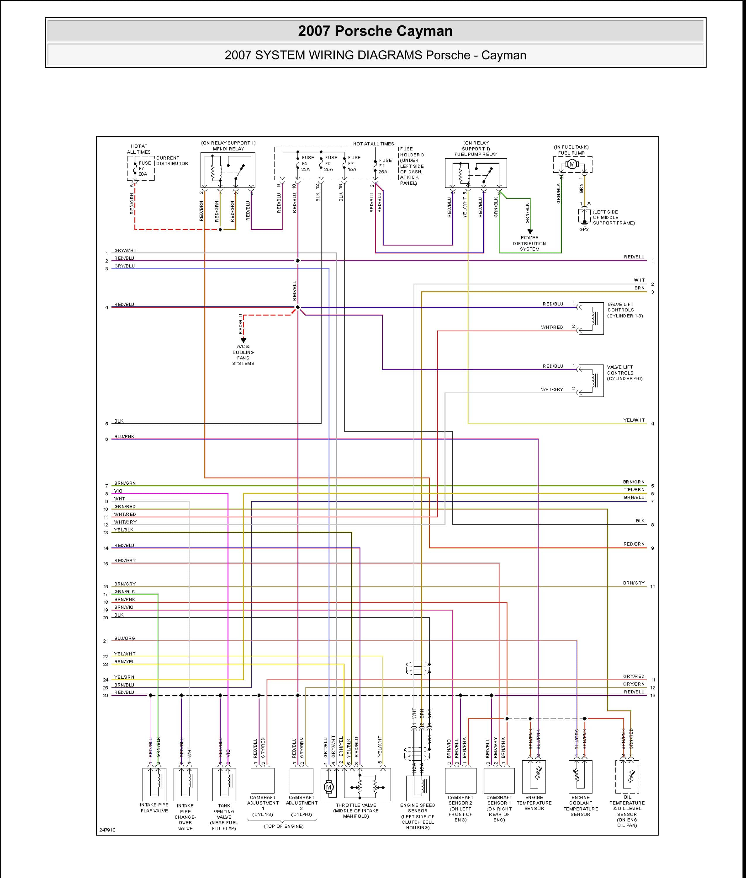 Wiring Diagram For Nonbose Amplifier 986 Series Boxster Boxster S