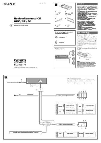 Peachy Sony Cdx Gt210 Wiring Diagram Wiring Diagram Wiring Cloud Overrenstrafr09Org