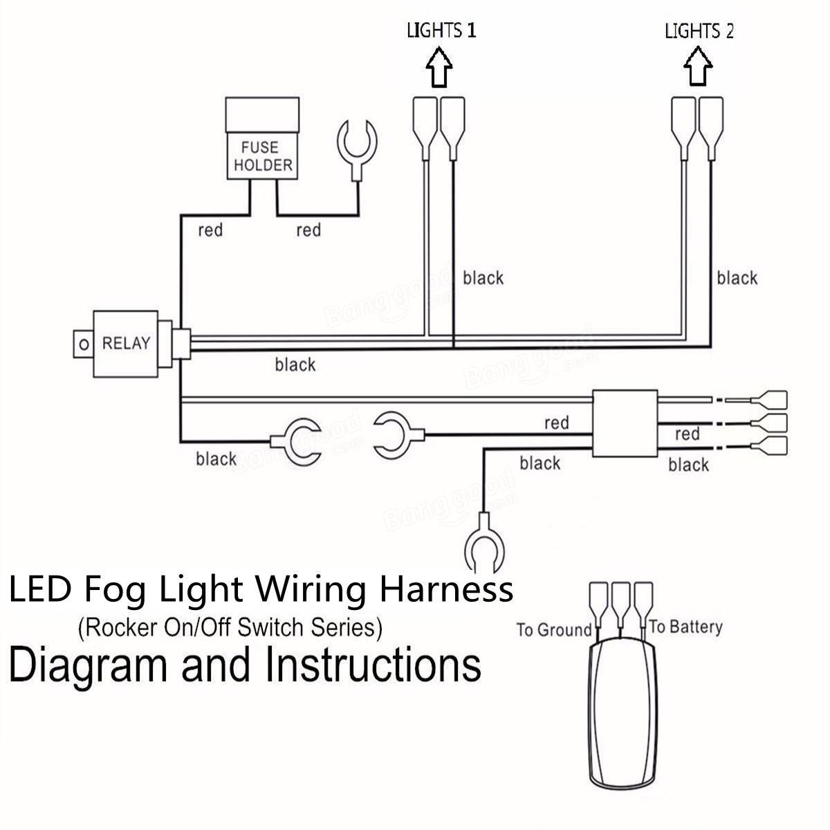 Surprising Original 12V 40A Led Fog Light Wiring Harness Laser Rocker Switch Wiring Cloud Xempagosophoxytasticioscodnessplanboapumohammedshrineorg