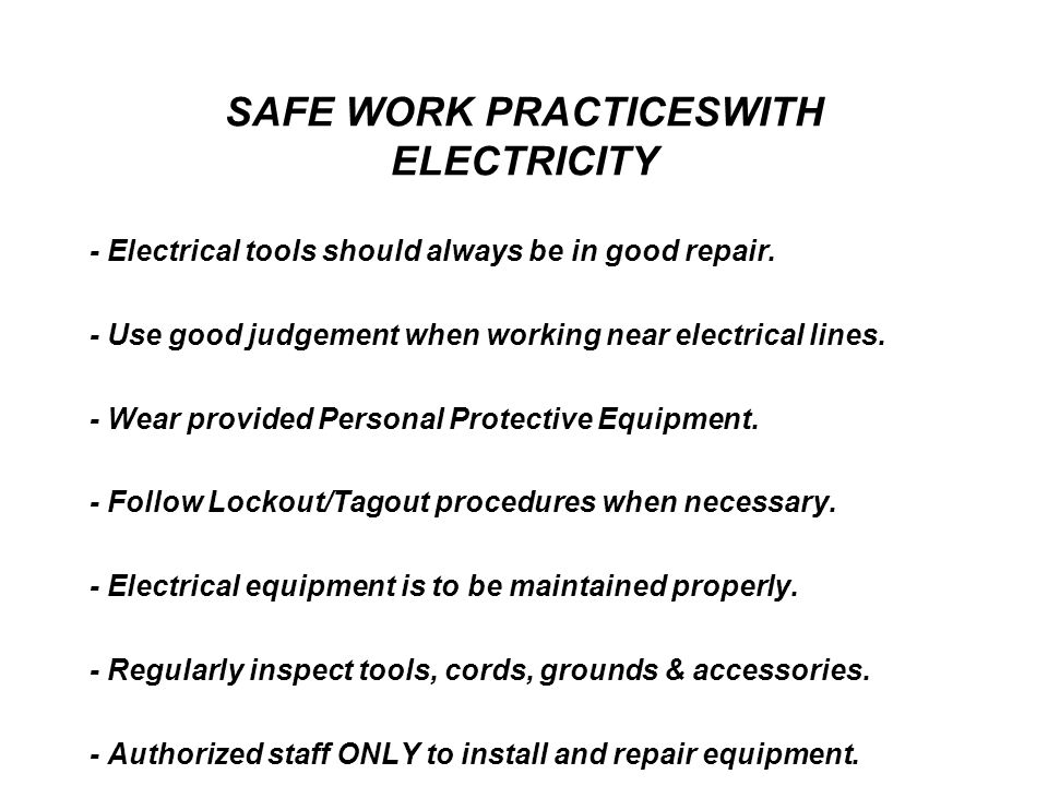 Incredible Basic Electrical Safety Introduction Purpose To Provide Employees Wiring Cloud Apomsimijknierdonabenoleattemohammedshrineorg