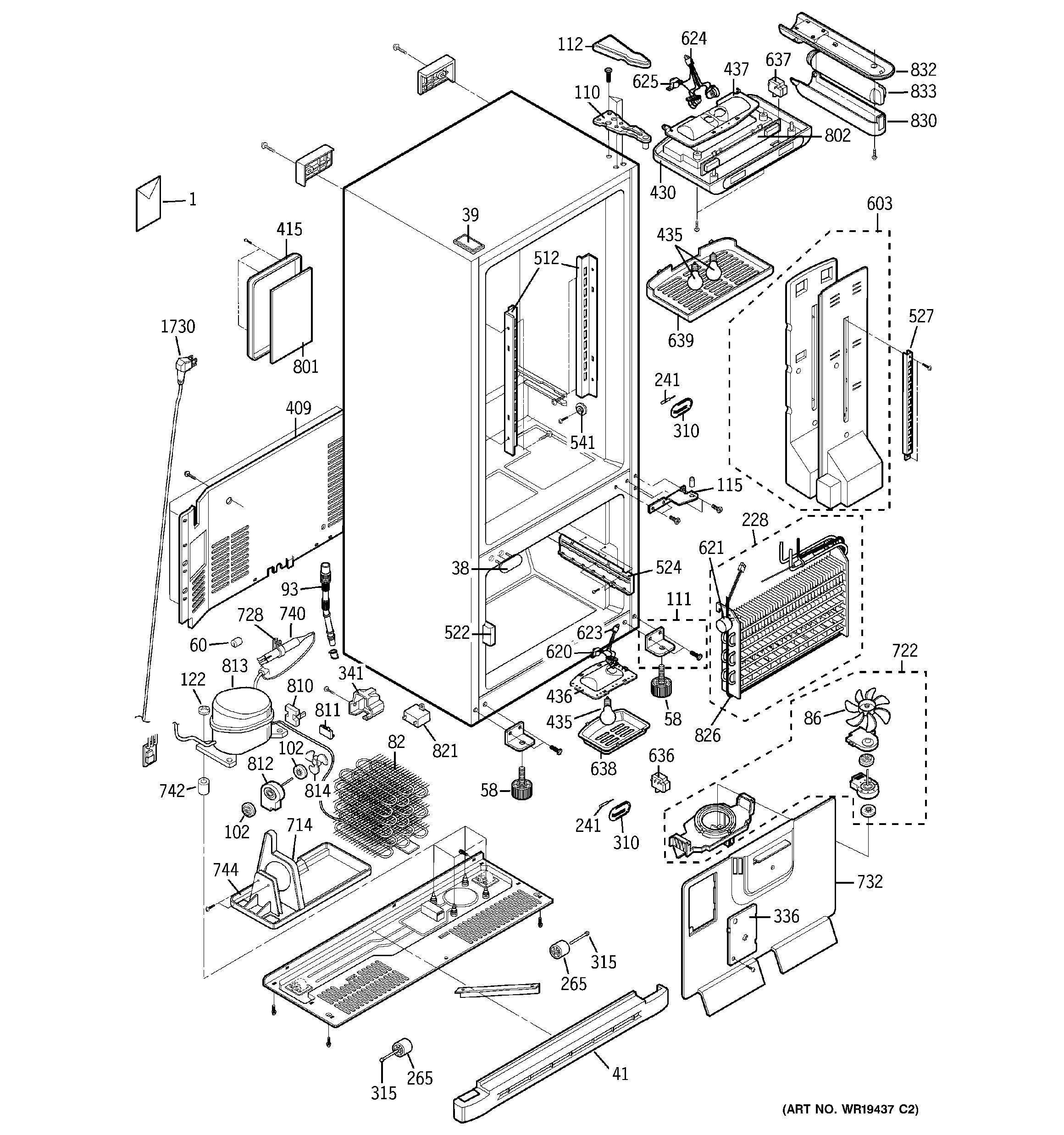 FD_0061] Refrigerator Parts Ge Refrigerator Parts Diagrams Schematic Wiring | Ge Refrigerator Schematic Electrical |  | Cette Funa Hete Weasi Hete Inama Mohammedshrine Librar Wiring 101