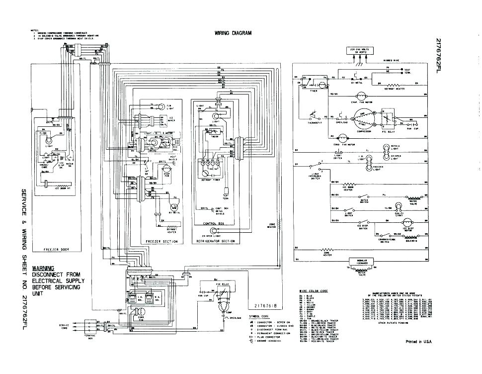 wiring diagram for ge appliances  viking refrigerator