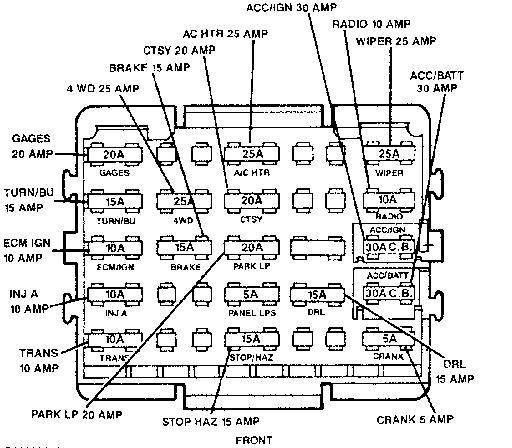 1989 Chevrolet Silverado K1500 Tail Light Wiring Diagram Wiring Diagram