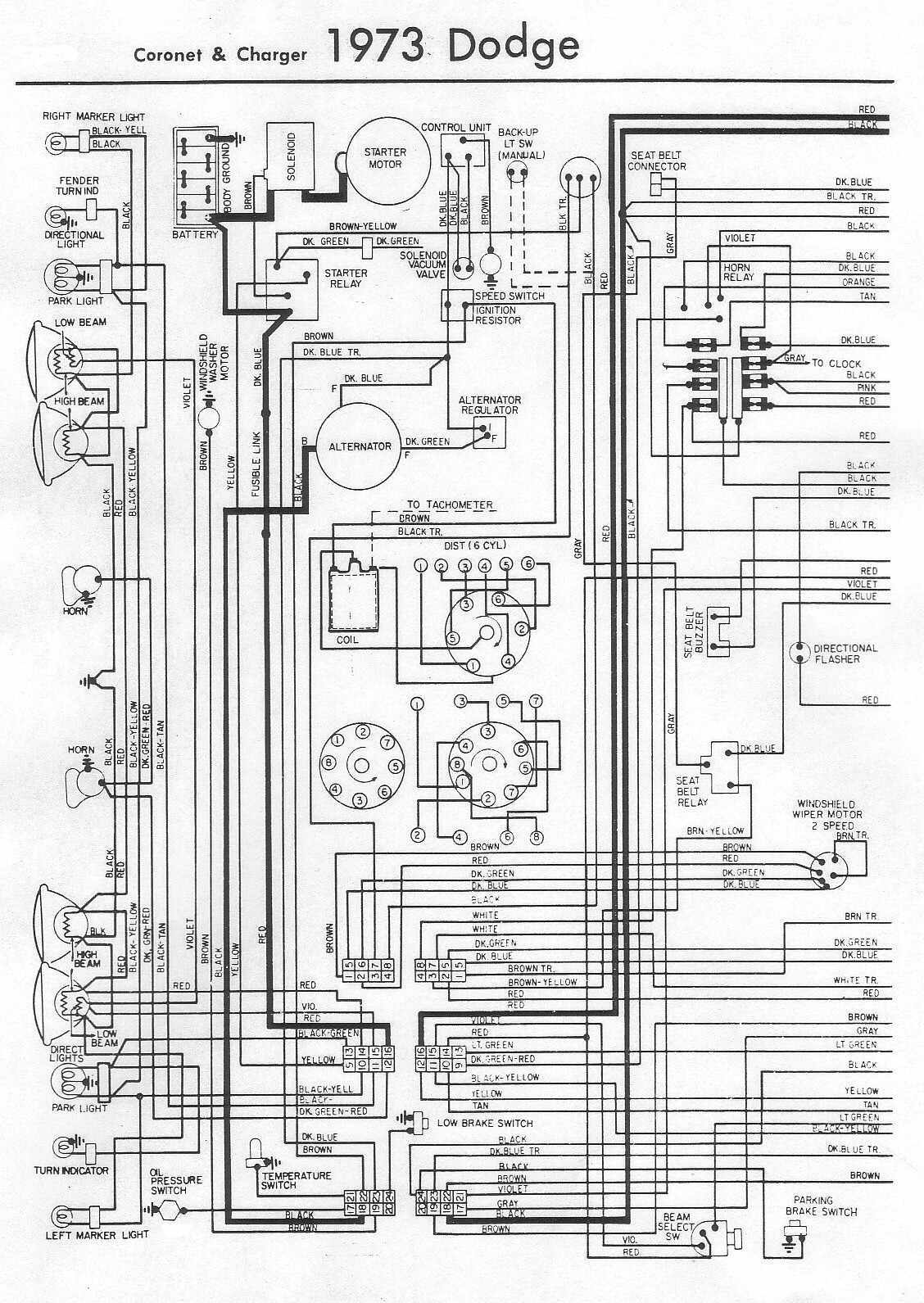 1964 dodge dart wiring diagram nf 2720  1973 dodge charger fuse box diagram schematic wiring  1973 dodge charger fuse box diagram