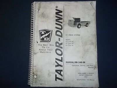 Surprising Taylor Dunn Parts And Service Manual 160 00 Picclick Wiring Cloud Picalendutblikvittorg