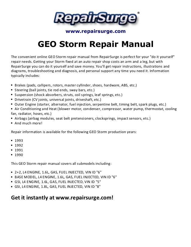 Xx 6824 93 Geo Storm Engine Diagram Free Diagram