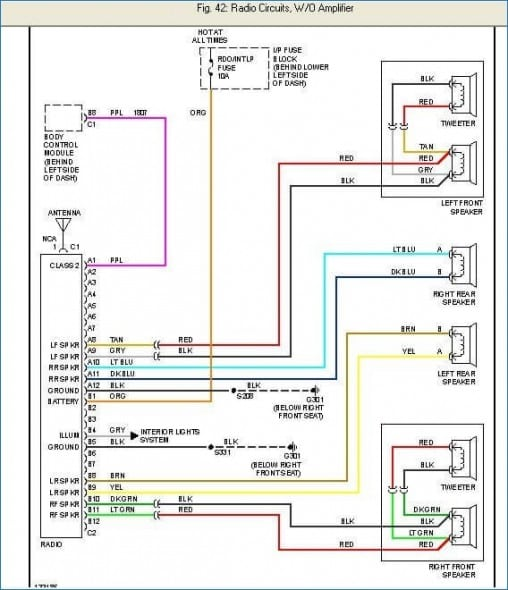 Wiring Diagram For 1998 Chevy Cavalier Radio