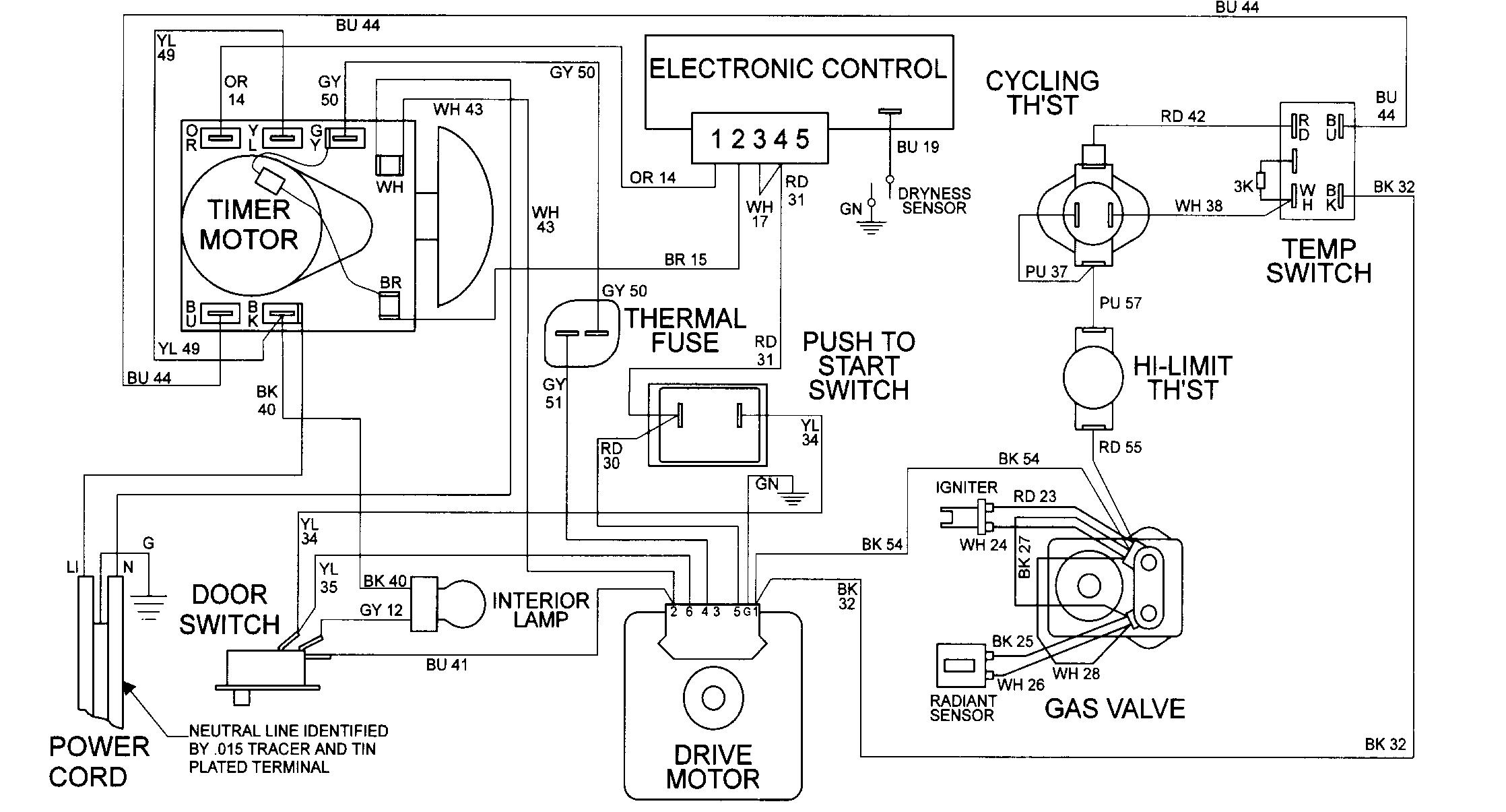 Sm 3214 Wire Dryer Wiring Diagram On Dryer Parts Wiring Diagram Schematic Wiring