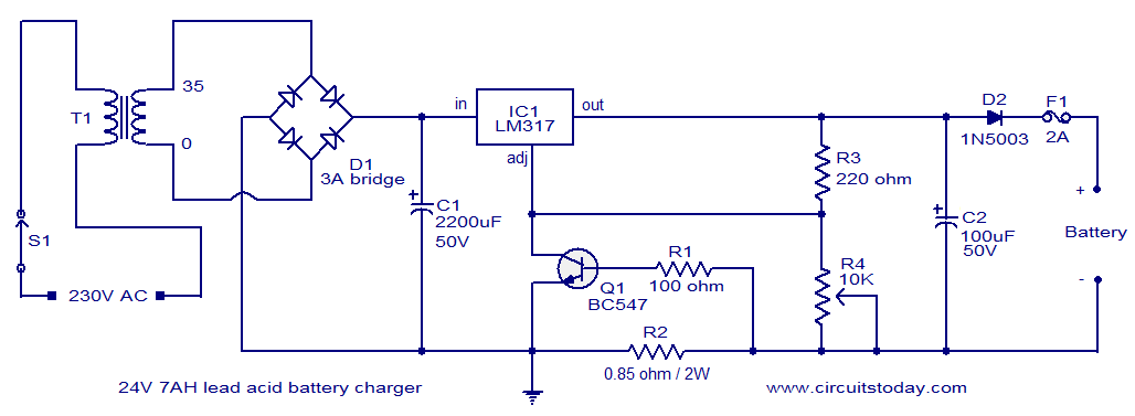 Strange 24V Lead Acid Battery Charger Circuit Electronic Circuits And Wiring Cloud Rometaidewilluminateatxorg
