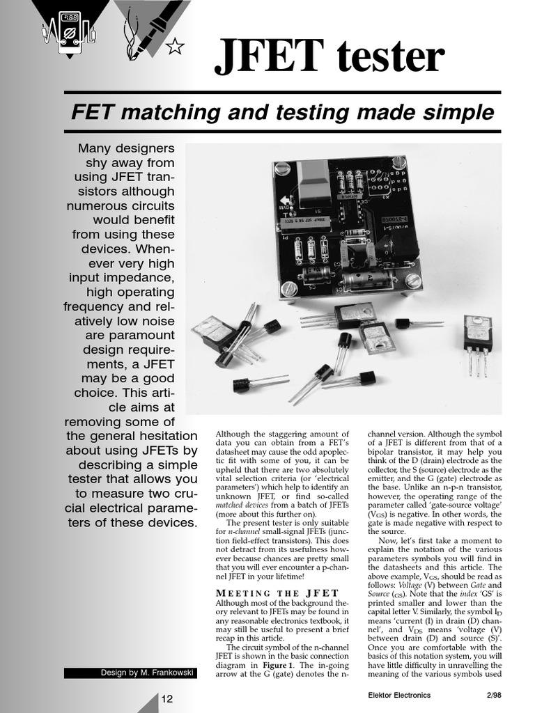 Super Jfet Tester Field Effect Transistor Transistor Wiring Cloud Staixaidewilluminateatxorg