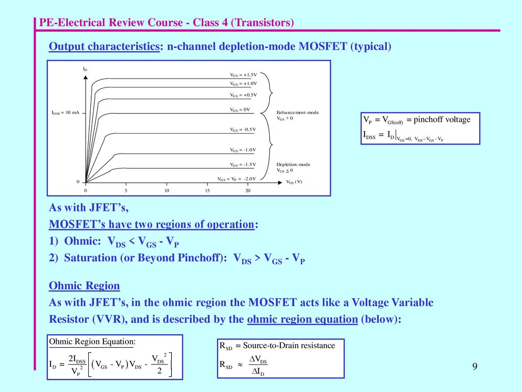 Magnificent Pe Electrical Review Course Class 4 Transistors Ppt Download Wiring Cloud Xortanetembamohammedshrineorg