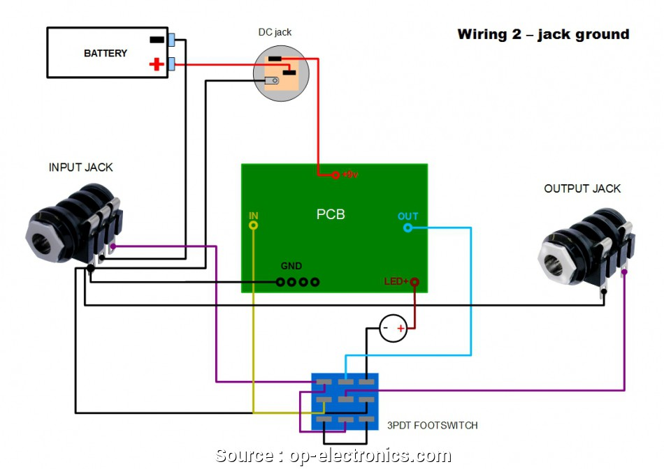 Wiring Diagrams For Guitar Pedals