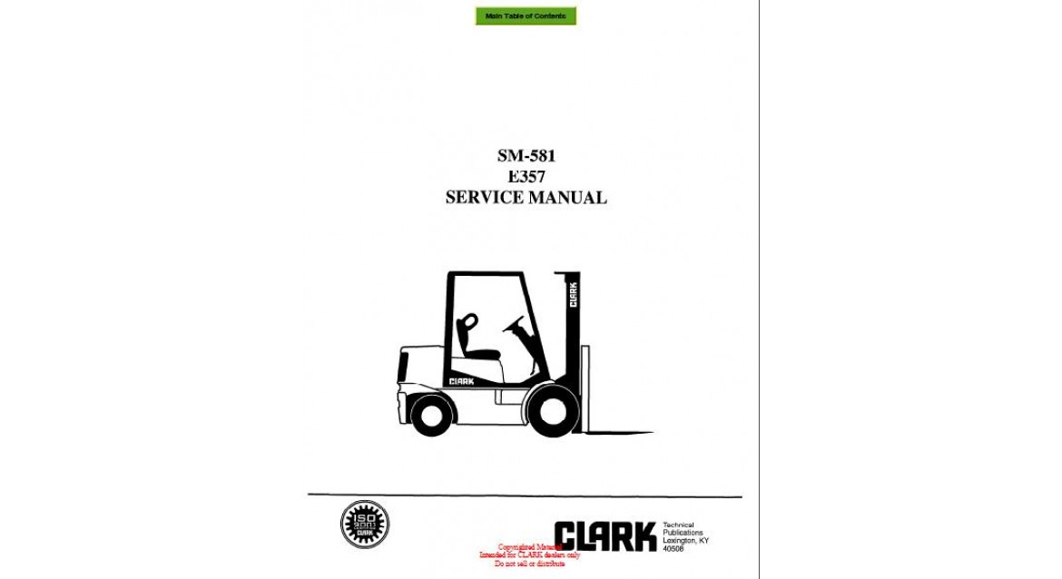 Swell Clark Forklift Trucks Service Manuals 2010 Wiring Cloud Inkilusmarecoveryedborg