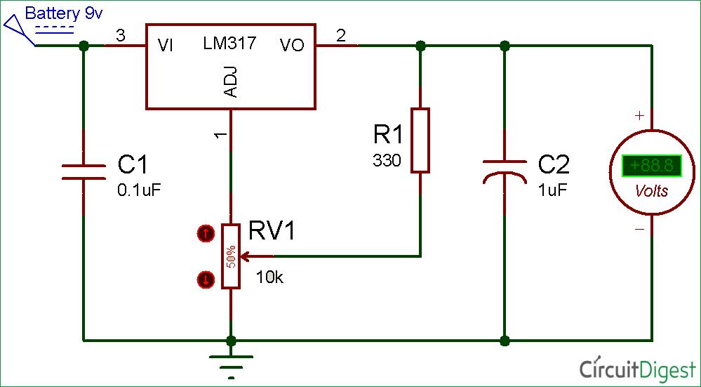 Amazing Lm317 Variable Voltage Regulator Circuit Diagram Electronic Wiring Cloud Staixaidewilluminateatxorg