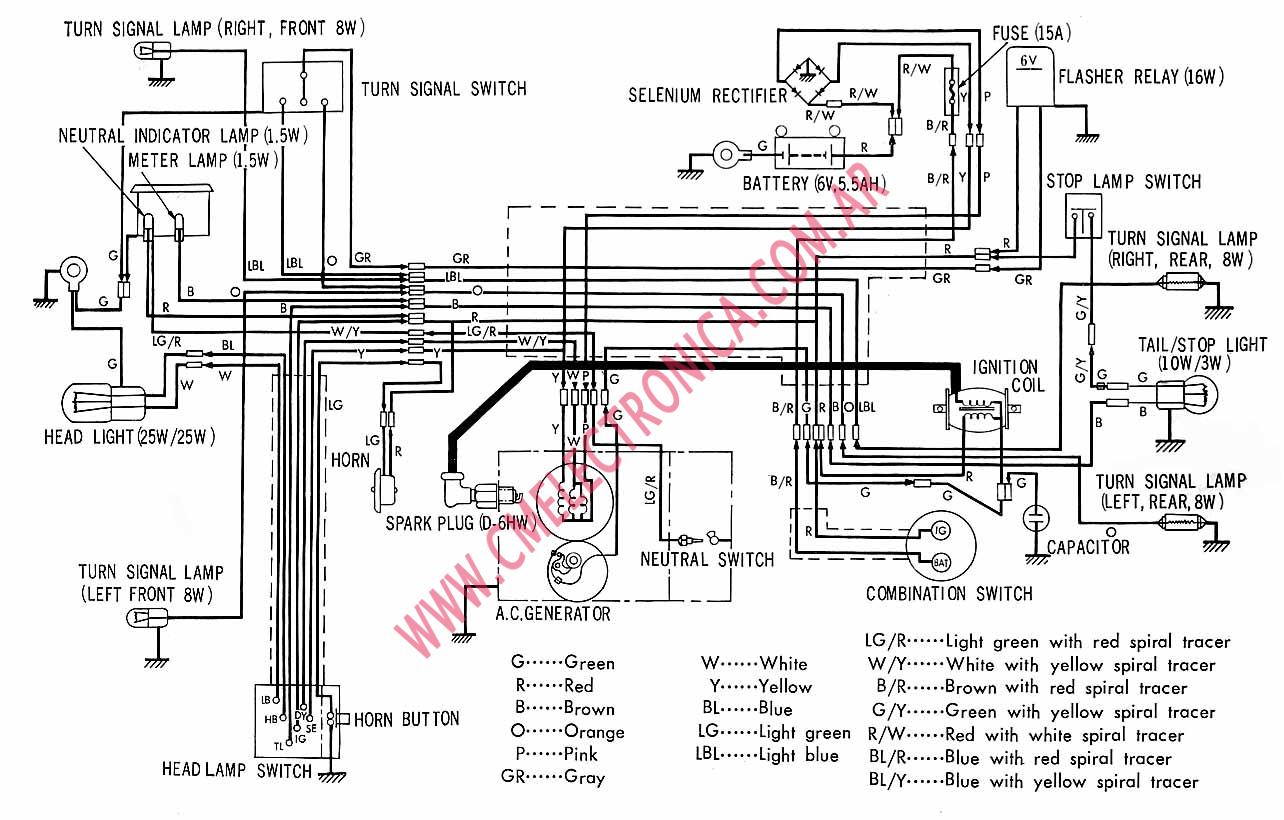 HC_4110] Diagrama Honda C90 Schematic Wiring