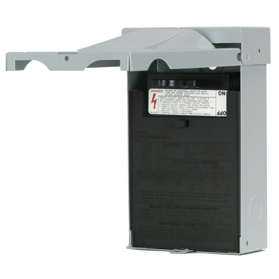 Magnificent Eaton 60 Amp Fusible Metallic Disconnect At Lowes Com Wiring Cloud Rineaidewilluminateatxorg