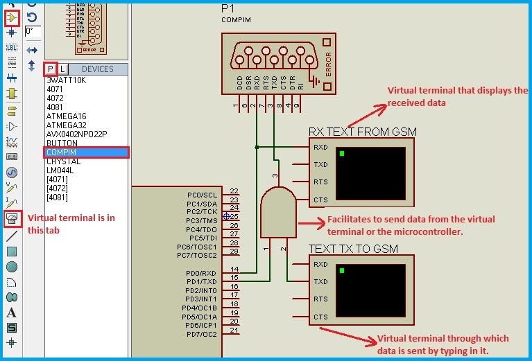 Phenomenal Interfacing Gsm Module Using Proteus Simulation Software Wiring Cloud Gufailluminateatxorg