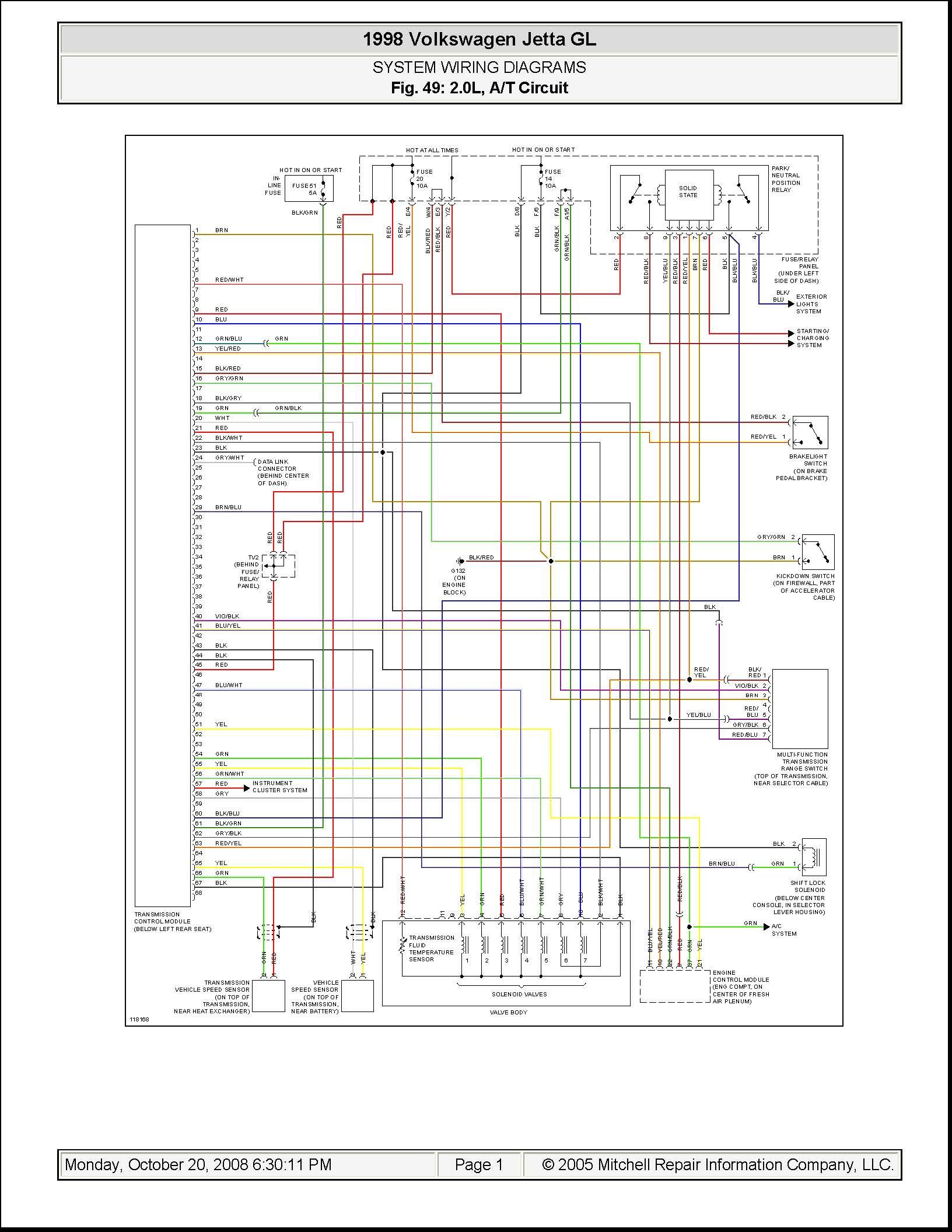 1998 Jetta Tdi Wiring Diagram - Wiring Diagram