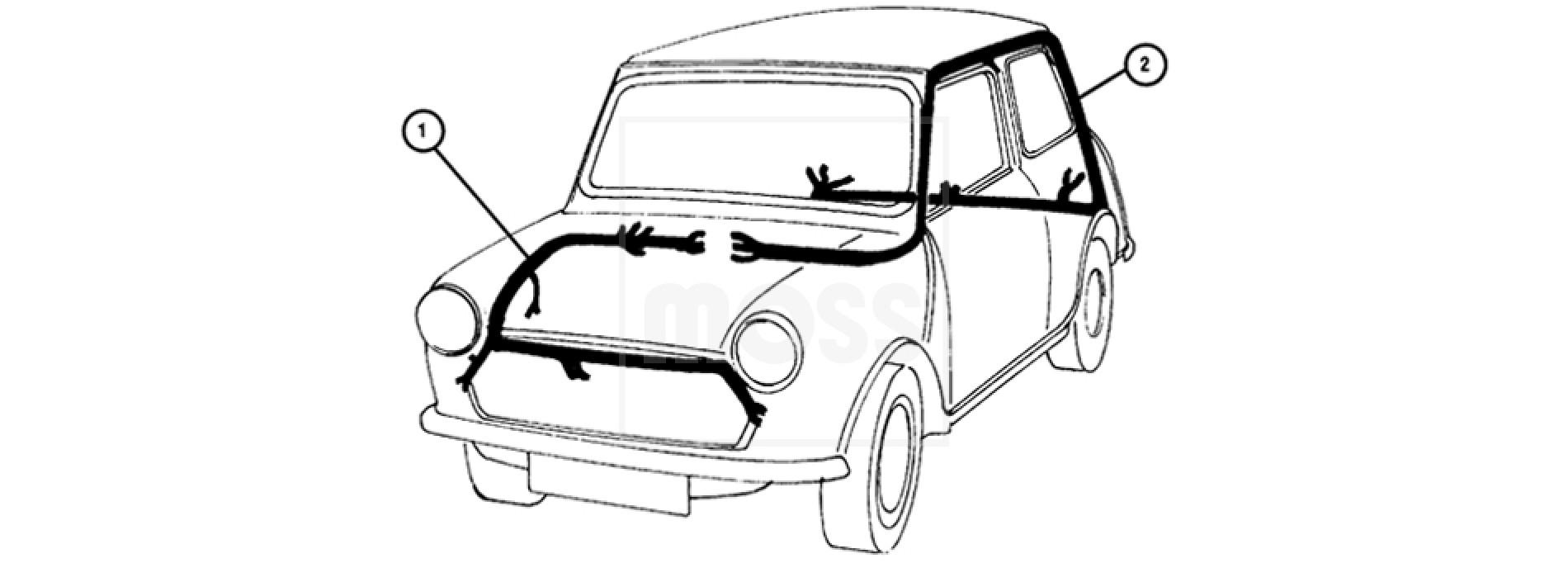 Le 7303 Classic Mini Wiring Loom