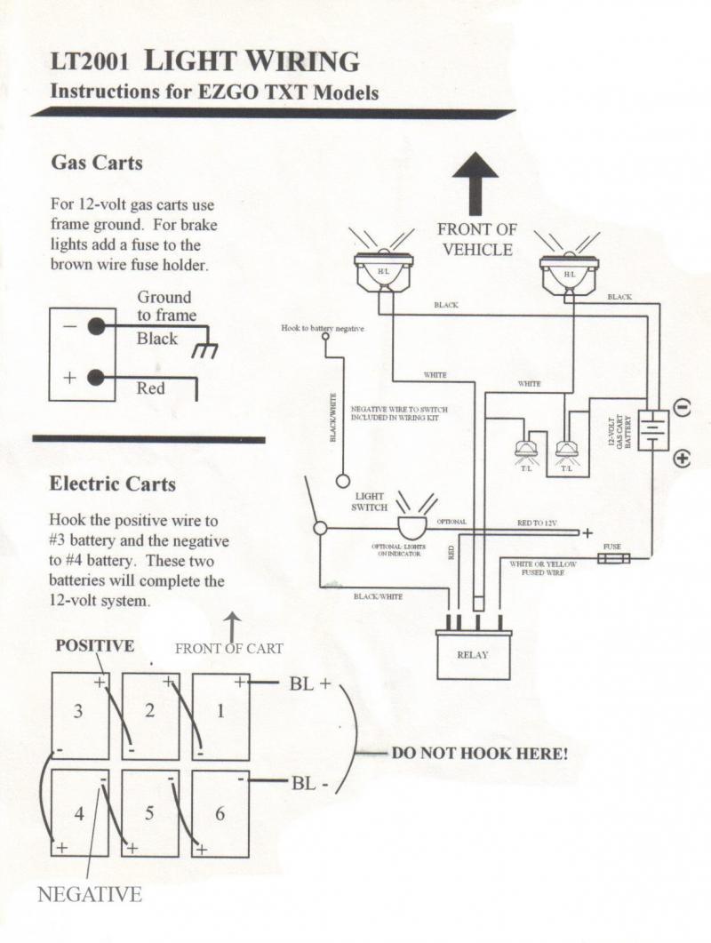 Ez Go Golf Cart Light Wiring Diagram