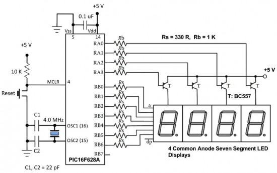 Admirable Water Level Indicator With Single 7 Segment Led Display Auto Wiring Cloud Ostrrenstrafr09Org