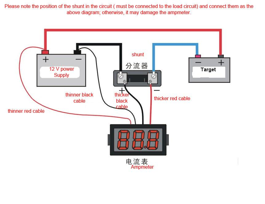 Voltage And Amp Meter Wiring Diagram